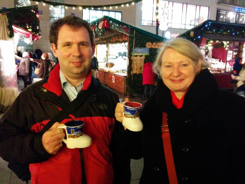 Enjoying Munich's Christmas Market (Steven and Angela)