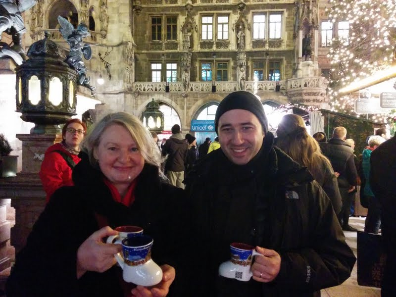 Enjoying Munich's Christmas Market (Angela and Emiliano)