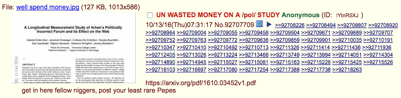 The first /pol/ thread we are aware of to claim we were funded by the UN.