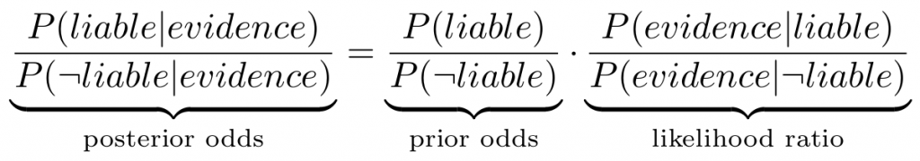 Odds form of Bayes' theorem